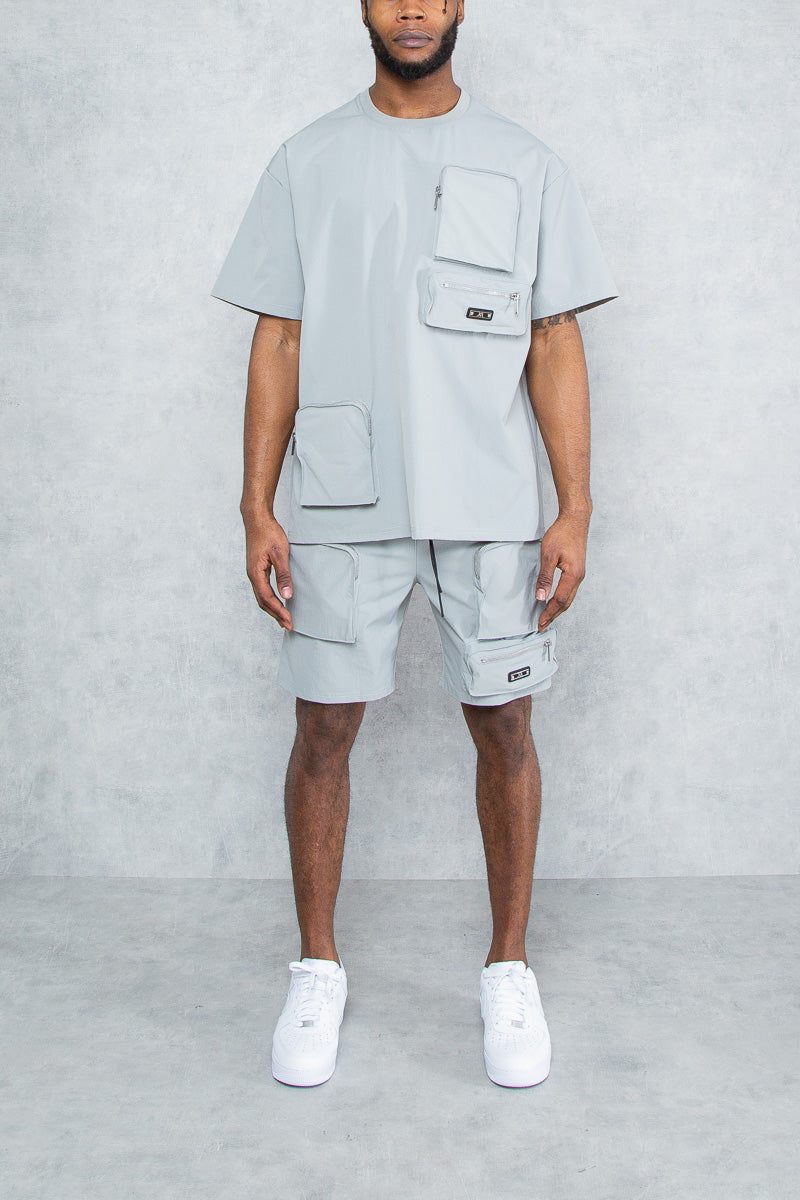 Eris Cargo Zip Pocket Short's - Grey