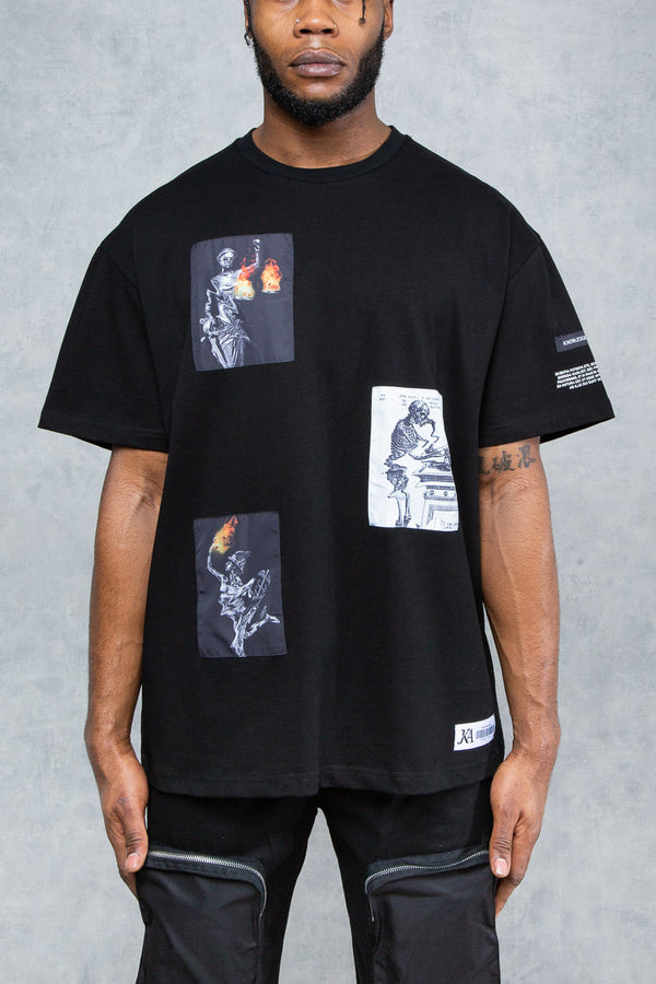 Knowledge Patch Oversized T-Shirt - Black