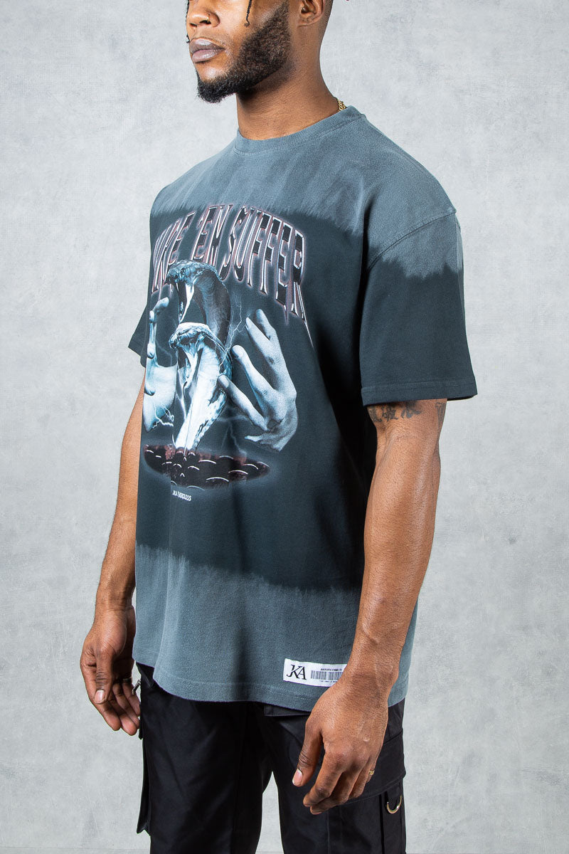 Make Em Suffer Split Dye Oversized T-Shirt