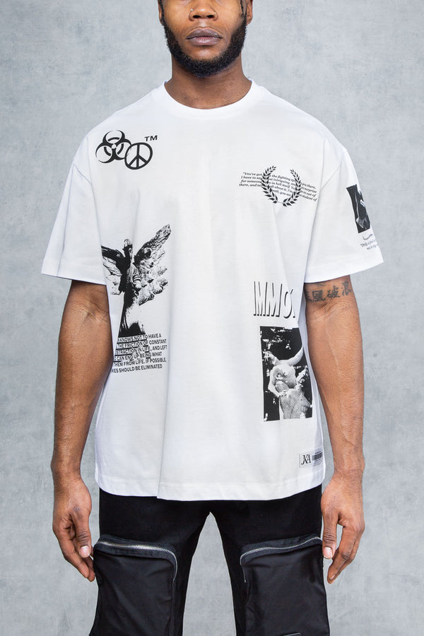 Enemies Graffiti Print Oversized T-Shirt