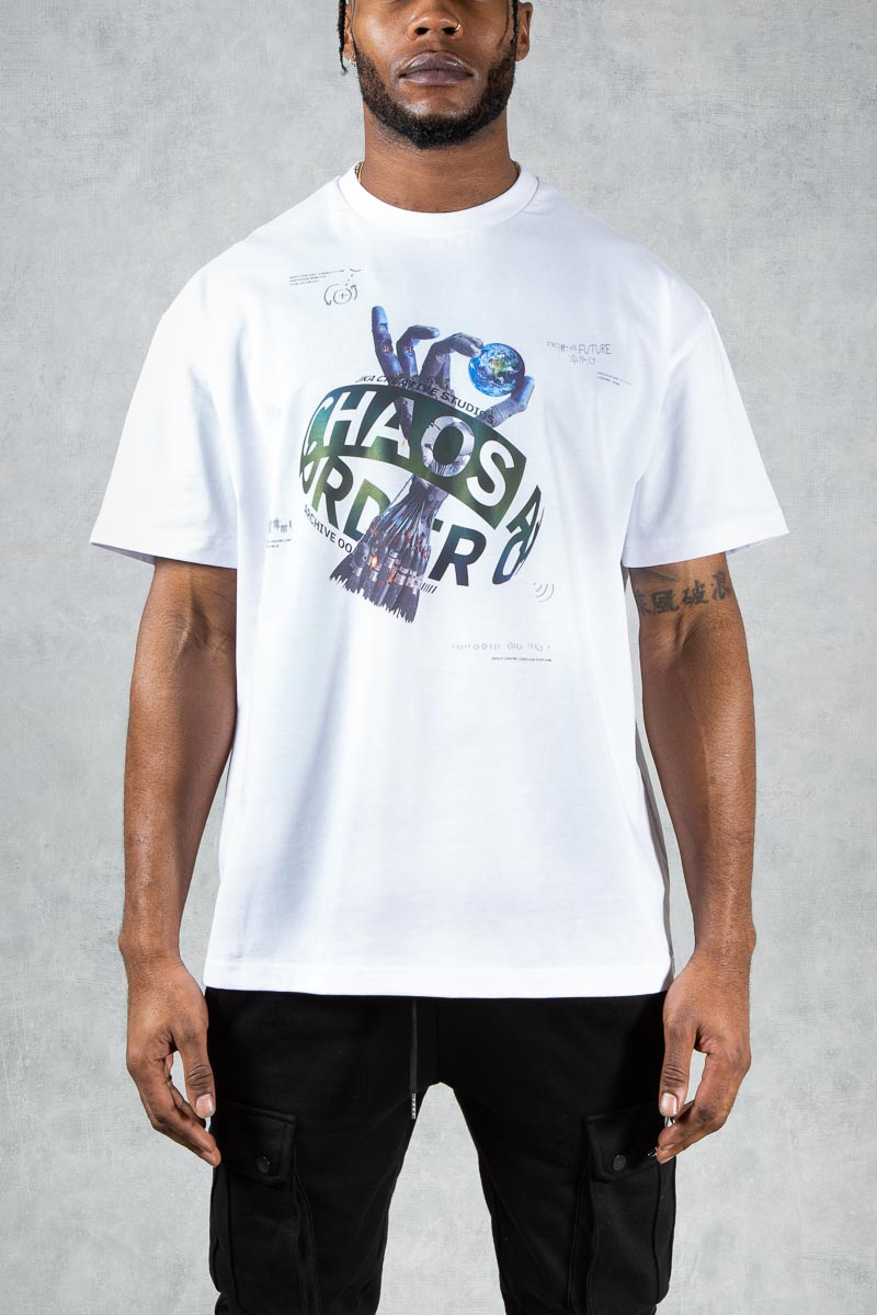 Future Reflective Oversized T-Shirt - White