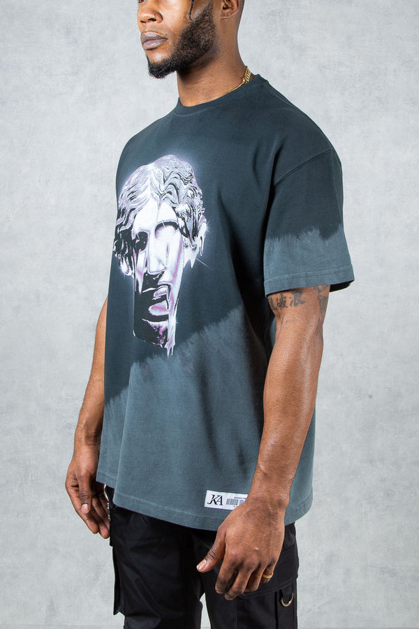 Chrome Face Split Dye Oversized T-Shirt