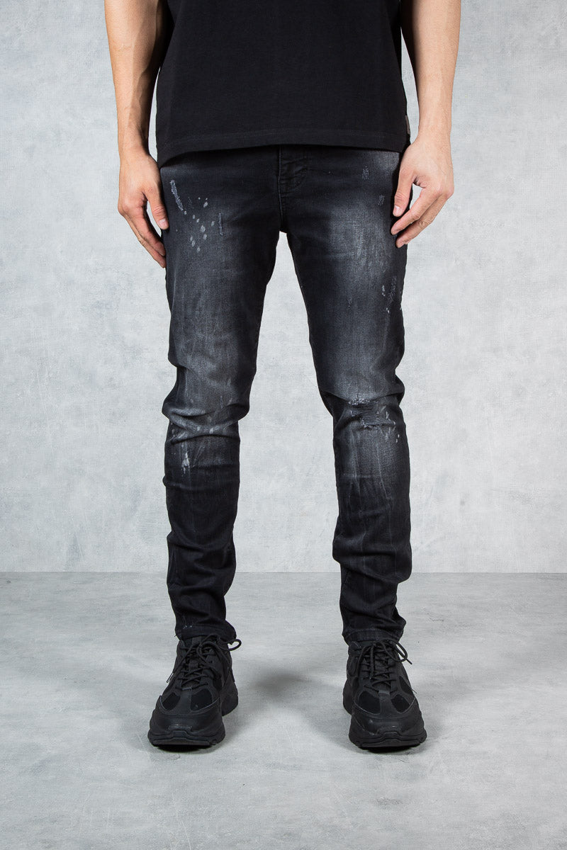 Viper Black Slim Destressed Marble wash - Jeans
