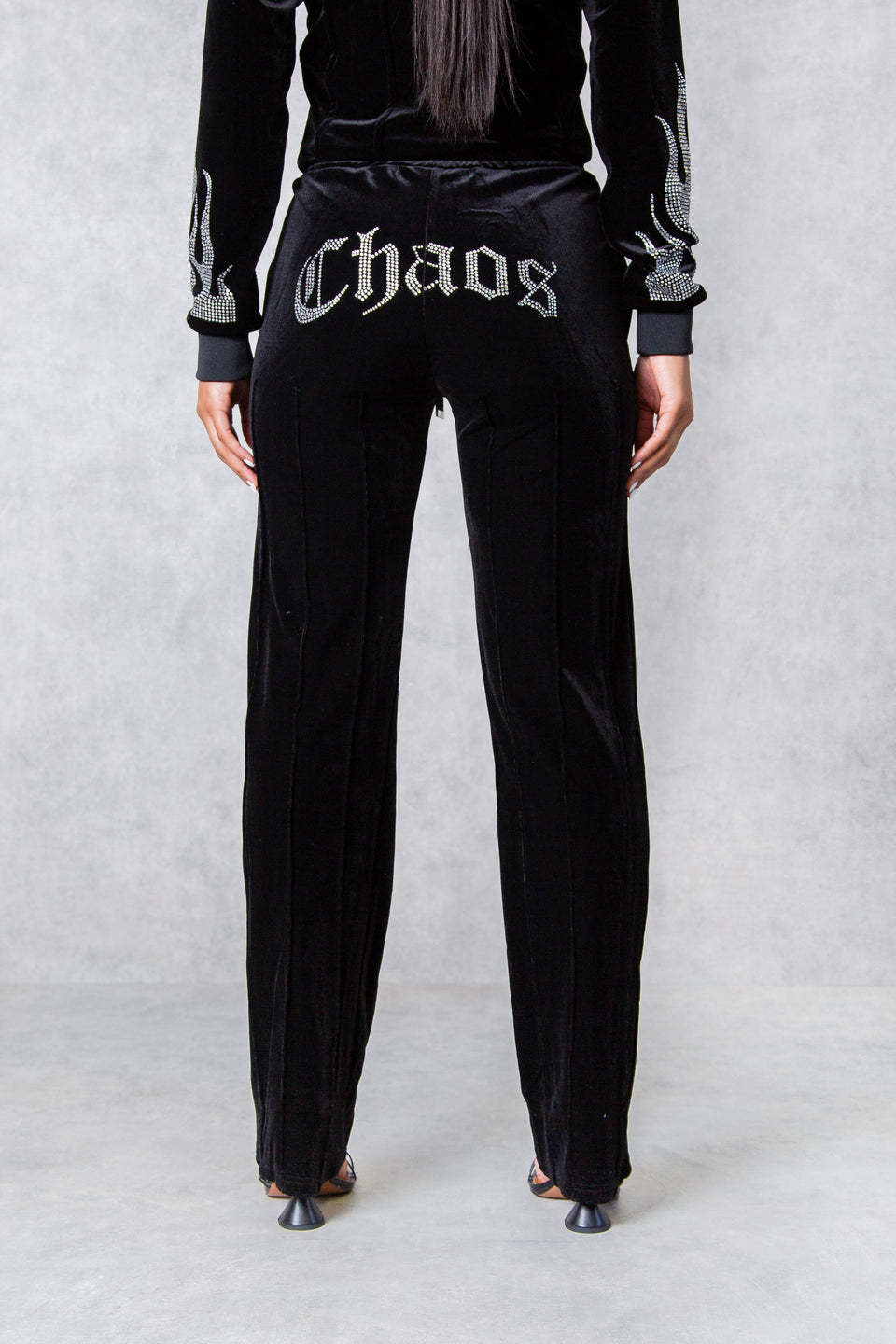Chaos Graffiti Oversized Sweatshirt - Black