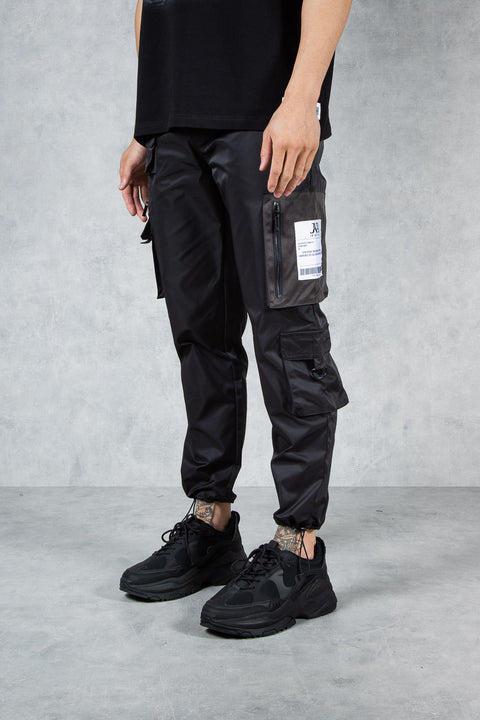 Conflict Cargo Slim Fit Combat Pant - Shiny Black