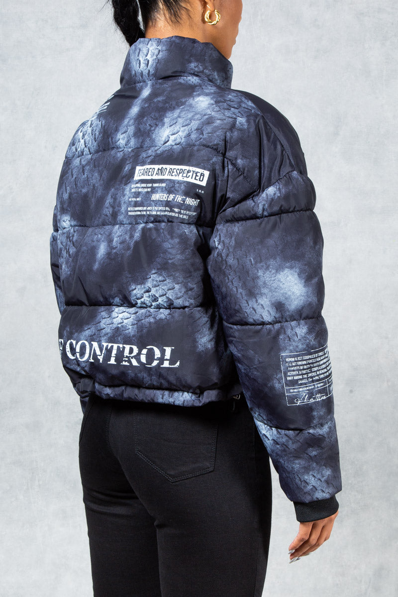 Women's Antidote Graffiti Print Puffer Jacket