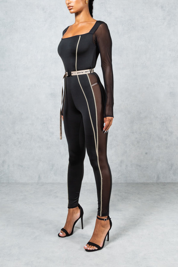 Womens Dark Plans Jumpsuit