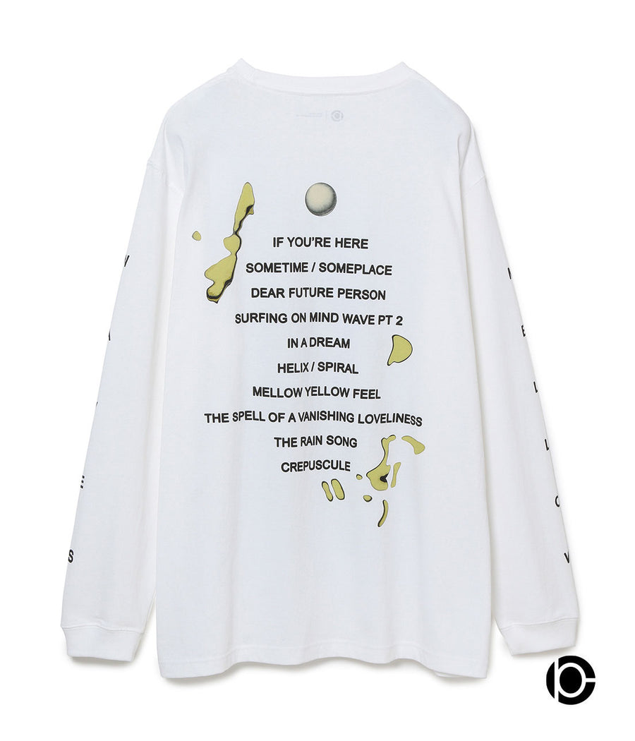 "【Cornelius×10C】Long Sleeve T-shirts ""Mellow waves"" WHITE10"