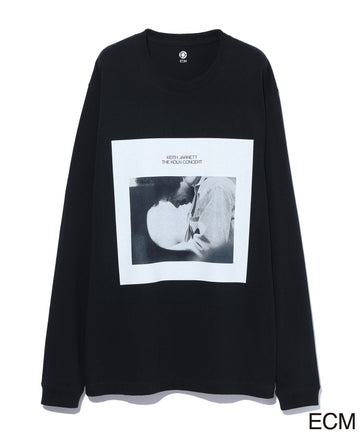 〈KEITH JARRETT〉LONG SLEEVE T-shirt BLACK×BLUE