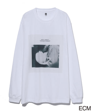 〈KEITH JARRETT〉LONG SLEEVE T-shirt WHITE×BLUE
