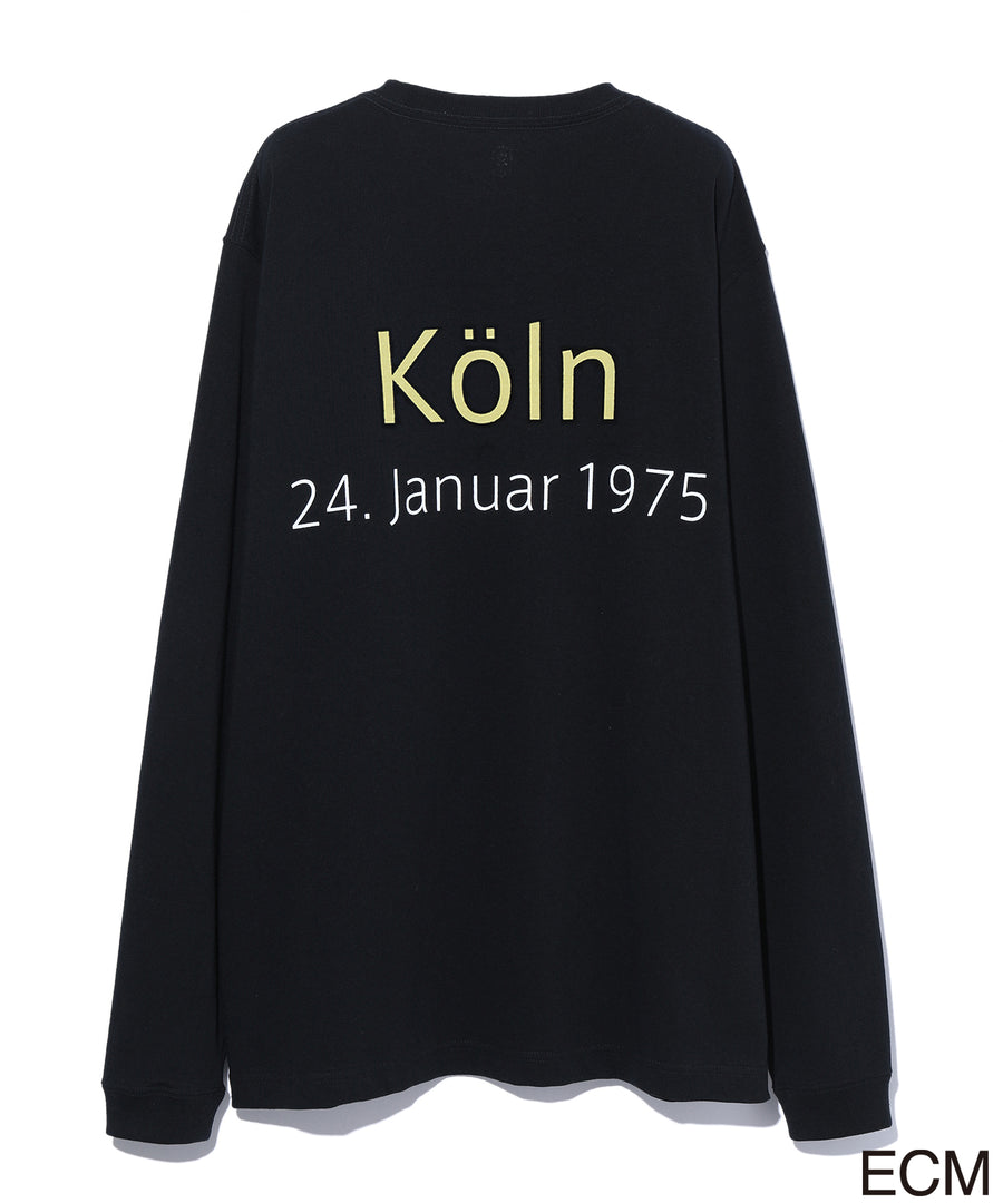 〈KEITH JARRETT〉LONG SLEEVE T-shirt BLACK×YELLOW