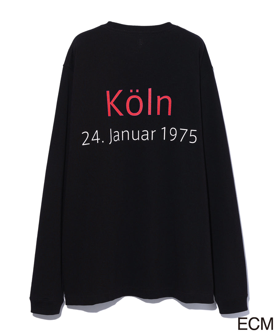 〈KEITH JARRETT〉LONG SLEEVE T-shirt BLACK×RED