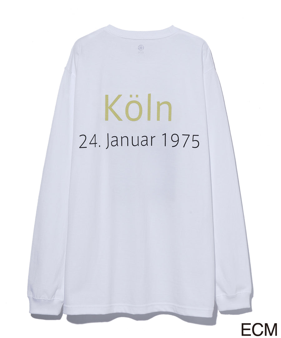 〈KEITH JARRETT〉LONG SLEEVE T-shirt WHITE×YELLOW