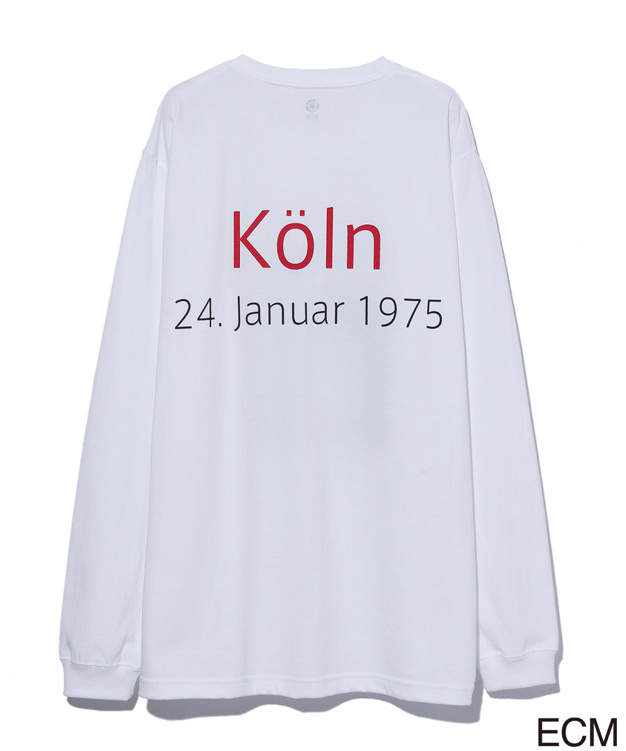 〈KEITH JARRETT〉LONG SLEEVE T-shirt WHITE×RED