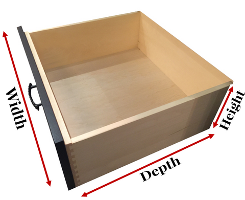 How to Measure your solid wood drawer