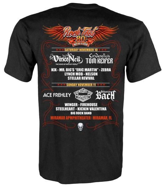 RockFest 80's Official T-Shirt - 2018