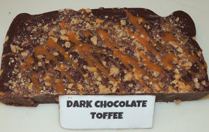 Dark Chocolate Toffee Fudge 1/2 Pound