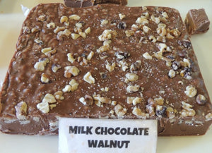 Milk Chocolate Walnut Fudge 1/2 Pound
