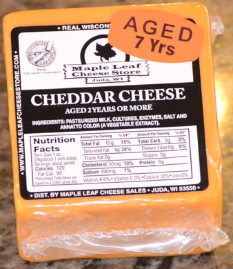 7 Year Aged Cheddar Cheese