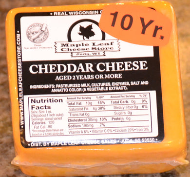 10 Year Aged Cheddar Cheese
