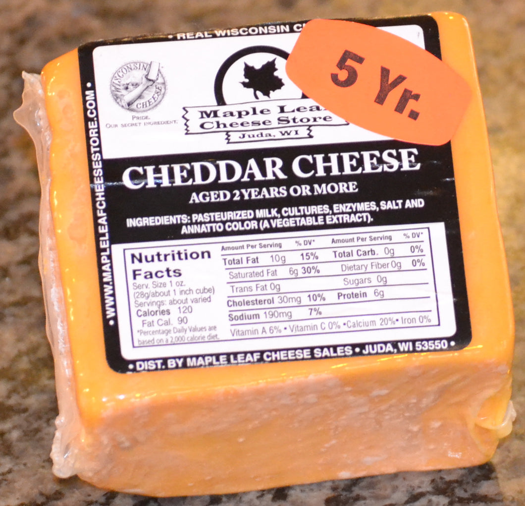 5 Year Aged Cheddar Cheese