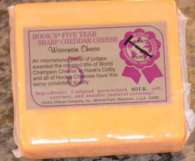 Hook's 5 Year Sharp Cheddar Cheese