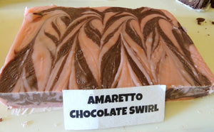Amaretto Chocolate Swirl Fudge 1 Pound