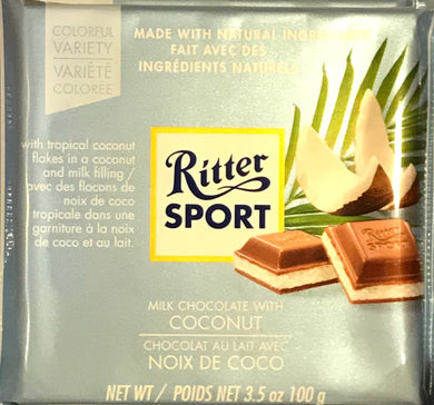 Ritter Milk Chocolate with Coconut