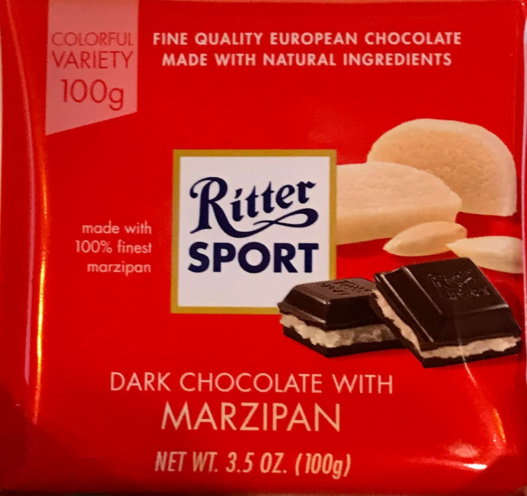 Ritter Dark Chocolate with Marzipan