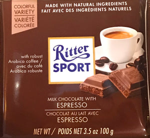 Ritter Milk Chocolate with Espresso
