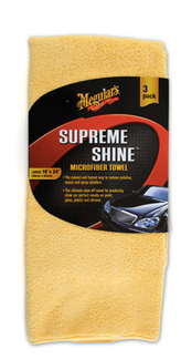 Meguiar's Supreme Shine Microfiber Towels - UltimateCare - Protect Your Investment