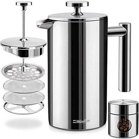 Mueller Stainless Steel French Press Coffee Maker
