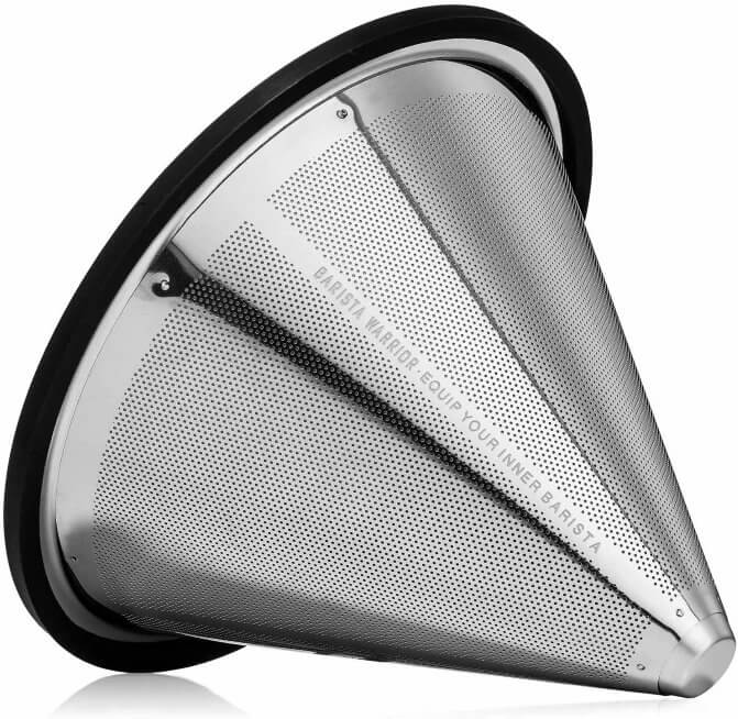Reusable pour over coffee filters