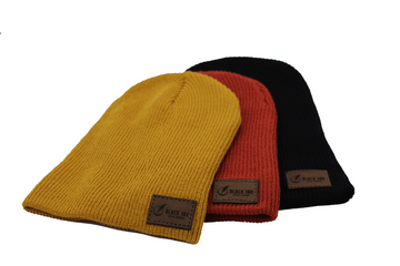Super Slouch Leather Patch Beanie