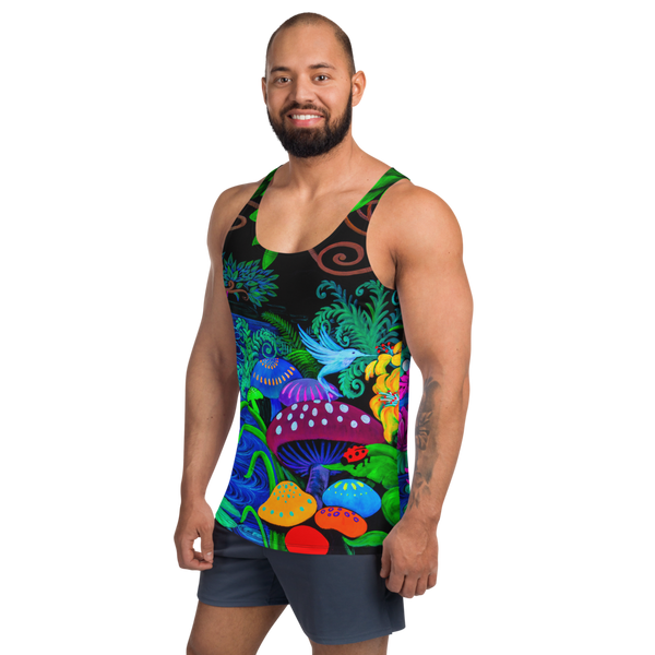 Night Garden Unisex Tank Top