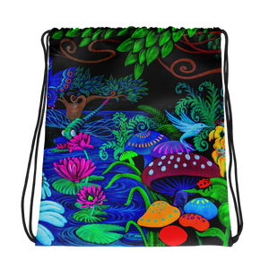 Night Garden Drawstring bag