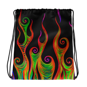 Flames Drawstring bag