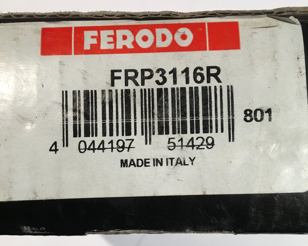 Ferodo FRP3116R Front Brake Pad DS3000