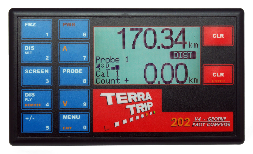 TerraTrip T002G 202 GeoTrip V4 Rally Car Tripmeter