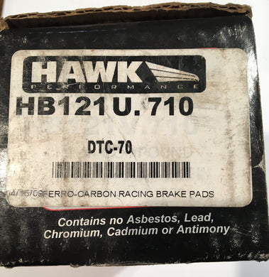 Hawk HB121U.710 Front Or Rear Brake Pad DTC-70 Compound