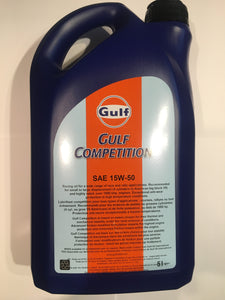 Gulf Competition SAE 15W-50 Motor Oil 5L
