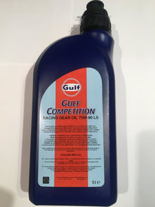 Gulf Competition Racing Gear Oil 75W-90LS & 75W-140LS 1L