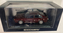 Load image into Gallery viewer, Minichamps Audi Quattro 1981 Red Metallic 1:43 Scale - 430 019422