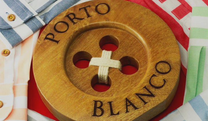 Porto Blanco Long Sleeve Shirts with Signature Wooden Button