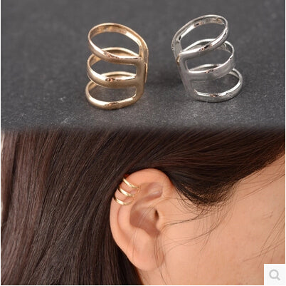 ED 007  2017 new fashion punk rock ear cuffs earrings earrings no earrings men 's women' s jewelry party ear clip