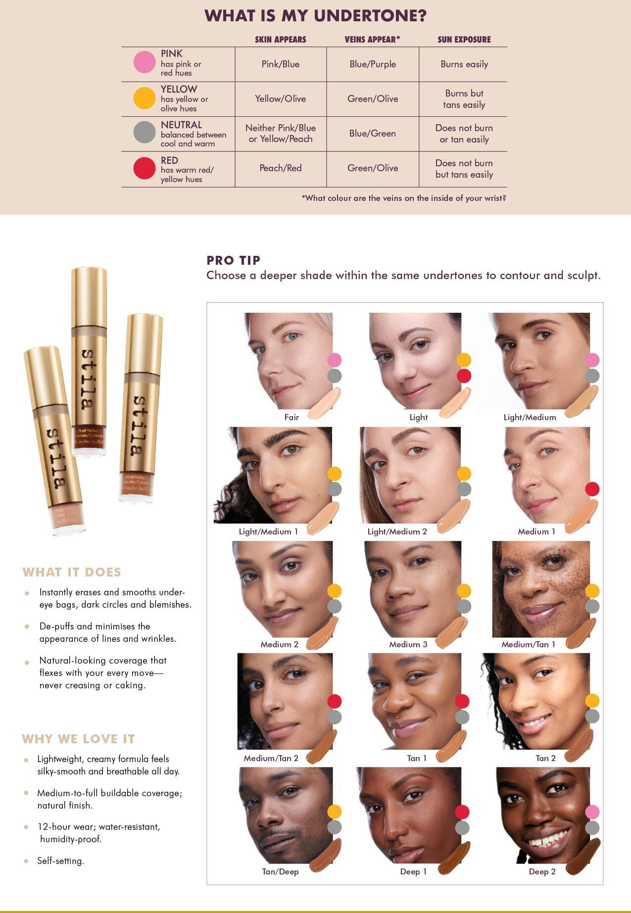 Stila Pixel Perfect Concealer Shade Finder