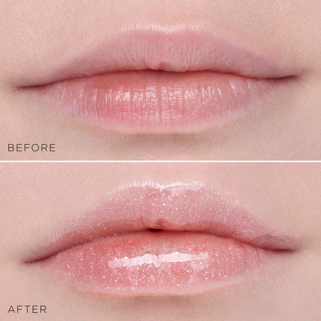 Stila Plumping Lip Glaze Before and After