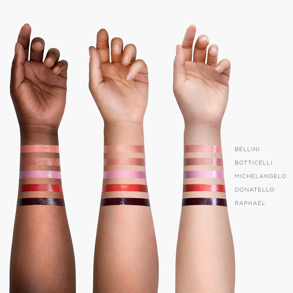 Stila Semi-Gloss Lip and Eye Paint Arm Swatches