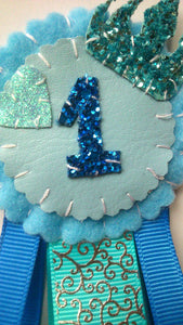 Princess Birthday Number Badge (Blue)