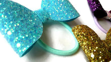 Load image into Gallery viewer, Gold Mini Glitter Bow, Small Gold Bow